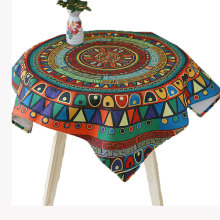 USPIRIT Indian Pastoral Tablecloth Fabric Nappe Table Cover Cotton Linen Living Room Tablecloth Colorful Table Cloth Custom