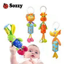 Sozzy Hot selling sozzy children's toy mobile Kids's plush toys bed bell bells rattle toy stroller for a newborn