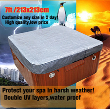 spa cover cap for keeping spa clean warm in winter, size 2440x2440x300 mm (8 ft. x 8 ft. x 12 in.)Hot tub jacket(China)