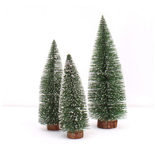 Mini Christmas Trees Resin Stick Cedar Desktop Decoracions Small White Christmas Tree Ornaments arbol de navidad