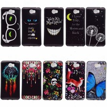 Phone Case For Huawei Y6 II Compact Cover Silicone Soft Gel Butterfly Fox Smile Black Back Shell For Huawei Y6 ll 2 Coque Cases