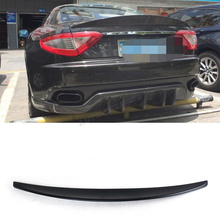 FRP Unpainted Black Primer rear lip spoiler wings For Maserati GranTurismo Coupe 2011UP