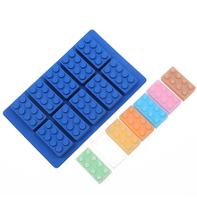 1pcs Silicone Lego Ice Cube Ice Box Chocolate Molds Jelly Molds Candy Cake Mould Bakeware D571