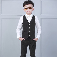 Children's Costume Boy Blazers Jacket Suit Formal Clothing Outerwear Party Casual Costume waistcoat + Shirts + Pants Y915