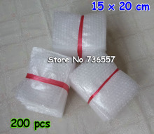 200pcs New 15cm*20cm Bubble Envelopes Wrap Bags Free Shipping 150x200mm Pouches packaging PE Mailer Packing package