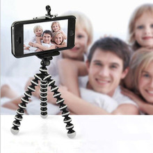 Flexible Octopus Tripod For Phone With Phone Clip Tripod for iPhone 6 7 6s 5s Dslr Gopro Xiao Yi 4K SJCAM Camera Stand Mount