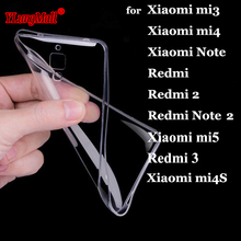 Clear Soft TPU Coque for Xiaomi Mi5s Plus Mi5 Mi Mix 4S 4C Redmi 3 3S 3X Redmi Note 5A 5a 2 3 4 4X Pro Prime Phone Cases Cover