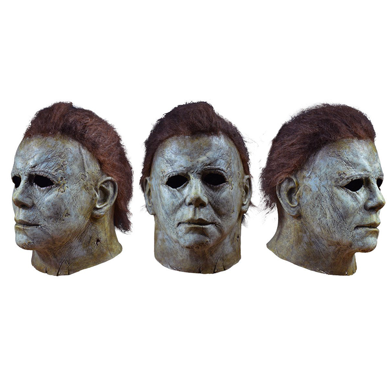 Michael Myers Mask Halloween 2018 Horror Movie Cosplay Adult Latex Full Face Helmet