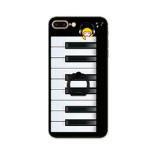 2017 Fashion sunglasses giraffe gearwheel piano keyboard rotated ring stand print tpu case For Iphone6 6s/6plus 6splus/7/7plus