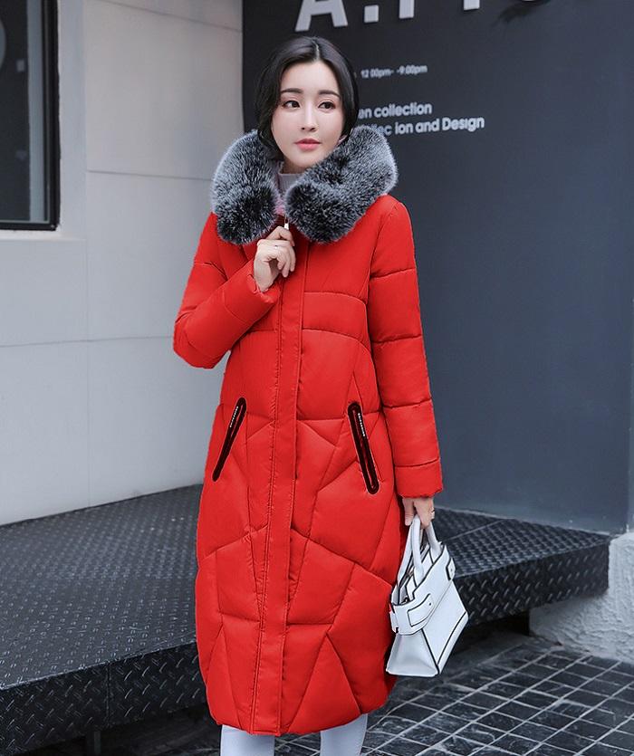 2017 Winter Women Coat Thicken Warm Long Jacket women coat girls long slim big coat jacket Down Parka+6 (2)