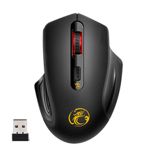 2.4 G Optical Wireless Mouse Computer Gaming Bluetooth Mice Games Ergonomic 1600 dpi Adjustable For PC Desktop Laptop iMice 1800