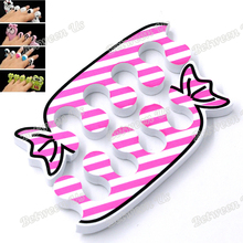 Professional Newest 1 Pair Lovely Nail Art Soft Finger Toe Separator Cartoon Lovely Sweet Candy Pattern Pedicure Manicure Tools