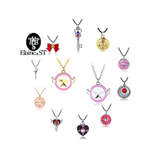 15 style Japan Anime Sailor Moon Choker Necklace Sailor Moon Crystal butterfly& heart& fairy pendant Necklace for Women Jewelry
