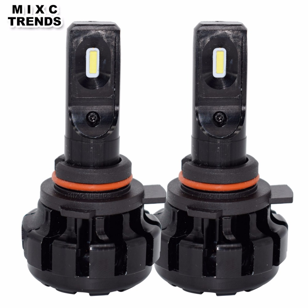 MIXC TRNEDS 2Pcs 9005 Led HB3 9006 HB4 9012 HIR2 Auto Car Headlight V1 Mini 60W 12000LM 6000K 12V 24V Automobile Headlamp Bulb