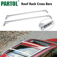Partol Silver Car Roof Rack Cross Bars Roof Luggage Carrier Roof Rail 999R1-XZ500 For Nissan Pathfinder 2013 2014 2015 2016 2017(China)