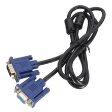1.5m VGA SVGA plug to socket Extension Cable connection cable PC TV monitor Black+Blue
