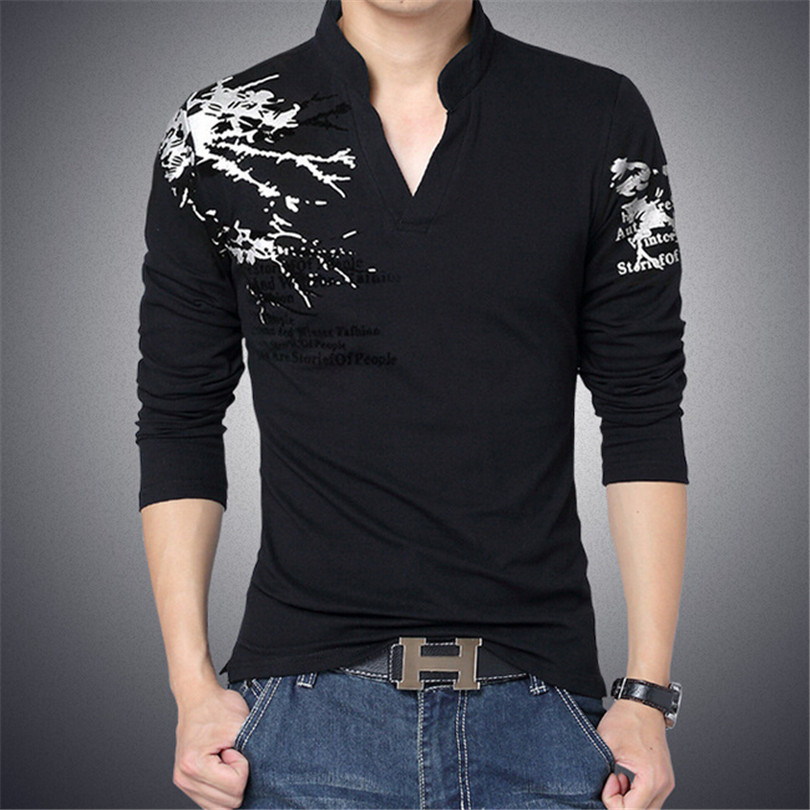 Online Buy Wholesale mens full sleeves t shirt v neck from China ...