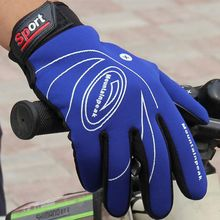 2017 Sports windproof touch screen glove Autumn Winter Warm Cycling Gloves Men Women Leather Gloves high quality