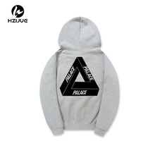 HZIJUE 2017 Spring New Hoodies Men Women 100% Cotton Skateboards Thick Flocking Sweatshirt Hooded Jacket Men