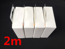 100pcs 2m OD 3.0mm AAAA Quality USB Data Charger Cable With aluminum foil for iphone 5 6 7 8 x with retail box(China)