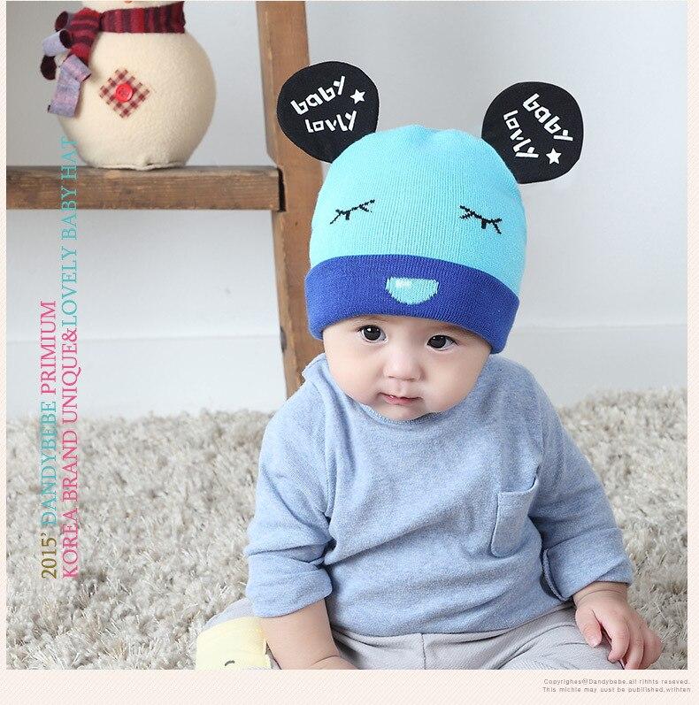 3-12 Month Cute Panda Big Ears  New Baby Winter Knittting Hat Autumn Beanie Cotton Newborn Caps  Newborn Kids Accessories