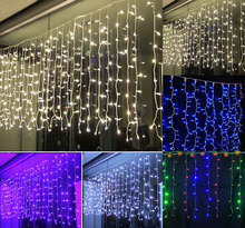 String lights Curtain 6*3 600 LED Icicle Lights, Fairy Indoor Starry Lights For Wedding, Christmas, Holiday, Home decora