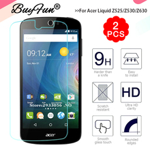 2pcs/lot 0.3mm 9 H 2.5D PremiumTempered Glass For Acer Liquid Z525/Z530 Z530S/Z630 Z630S Cover Screen Protective Film Case Guard(China)