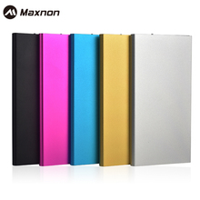 MAXNON High Quality Ultra Thin Metal Power Bank 10000mAh Mobile External Battery case Portable Power Bank for iPhone 6S Plus 6S(China)