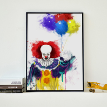 Popigist Movie Stephen King's It Penny Wise Splat Portrait Canvas Art Painting Print Poster Picture Wall Home Decoration Murals(China)