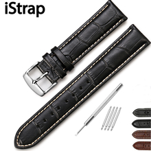 iStarp Watchband 13 14mm 15mm 16mm 18mm 19mm 20mm 21mm 22mm 24mm Watch Band Leather Watch Strap Buckle Belt for Movado Tissot(China)