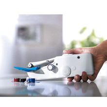 Multifunction Hand-Held Mini Sewing Machine Home Sewing Quick Table Hand-Held Single Stitch Clothes Needle Work Accessories(China)