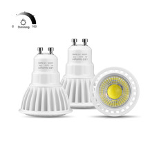 GU10 3W 5W 7W Dimmable LED spotlight bulb 220V 110V LED lamp light Aluminum GU10 ome lighting 85-265V COB Spot light(China)