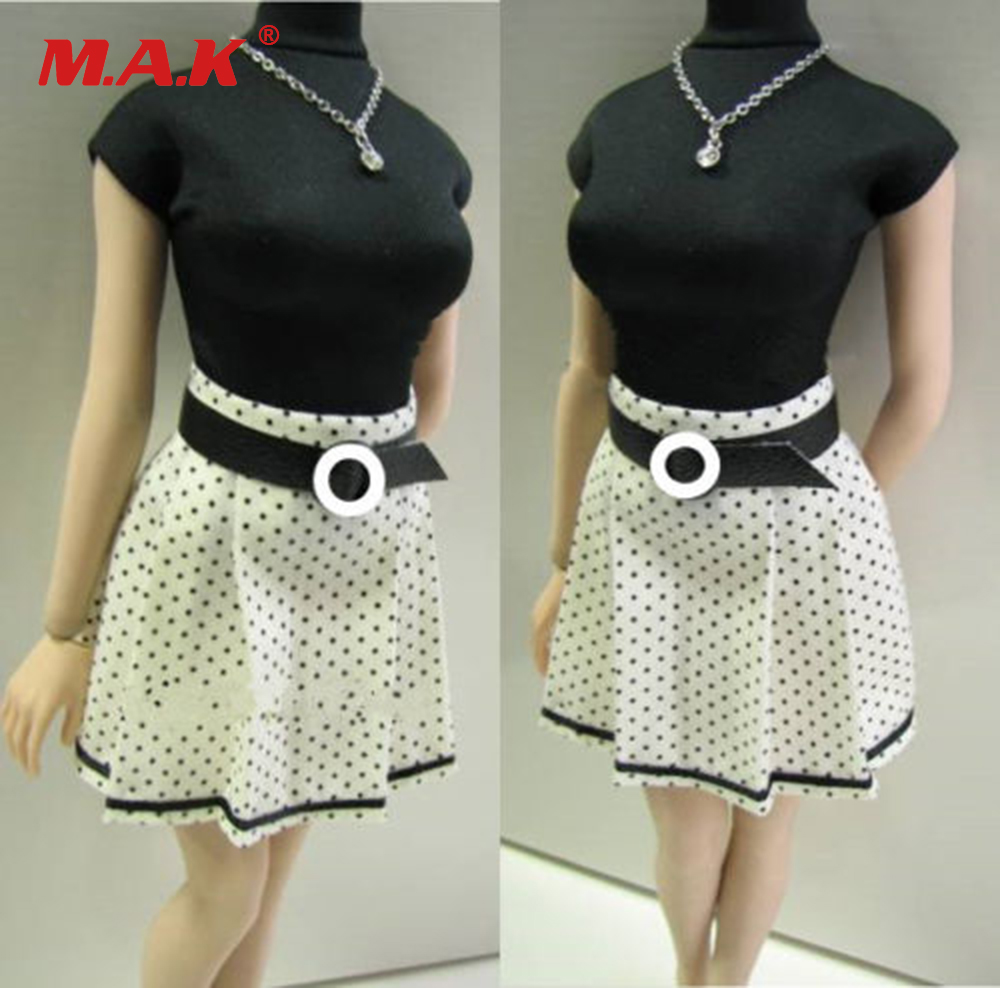 Custom 1/6 Scale Shirt &amp; Skirt Dress Clothing Sets For 12 Female Action Figures Accessories<br>