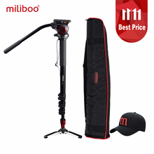 "miliboo MTT705A Aluminum Portable Fluid Head Camera Monopod for Camcorder /DSLR Stand Professional Video Tripod 72""Max Height(China)"