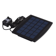 mini Solar Power Panel Landscape Pool Solar Pump Garden Fountains Pluggable Solar Power Decorative Fountain 9V 2.5W Water Pump(China)