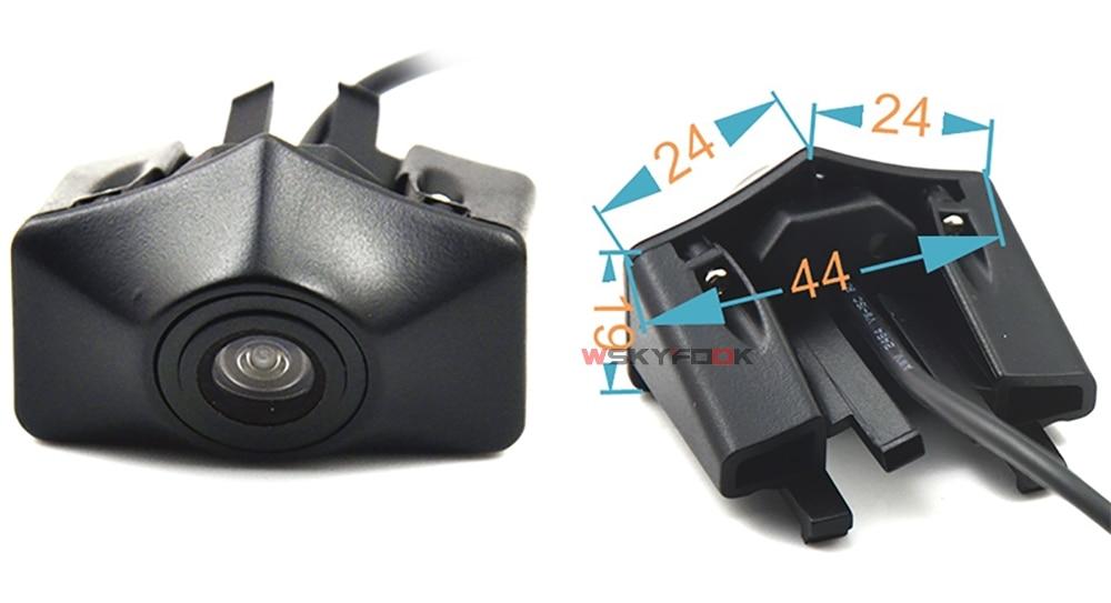 CCD Car Front View vehicle Logo Camera for Audi A6L Q5 Q7 Q3 A4L A4 b8 front logo camera Brand Mark Camera PAL/NTSC 8