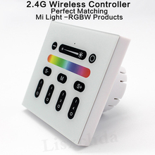 Mi light 2.4G 4-Zone Touch Screen RGB RGBW Led Controller Wireless RF Remote Controller for Mi Light Led Bulb Led Strip Light(China)