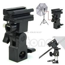 Photo Flash Adapter Hot Shoe Swivel Mount Light Stand Bracket B Umbrella Holder #R179T#Drop Shipping