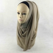 2016 Most Popular Solid Plain Chiffon Scarves Shawl Hijab Scarf Wrap Pashmina Accessory,can choose colors ,free shipping, PHC001