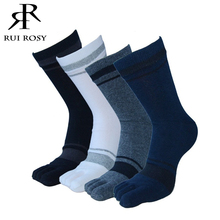 4Pair High Quality Men Toe Socks Male Crew Casual Cotton Five Finger Socks Men Brand In Tube Dress Business Socks For Men