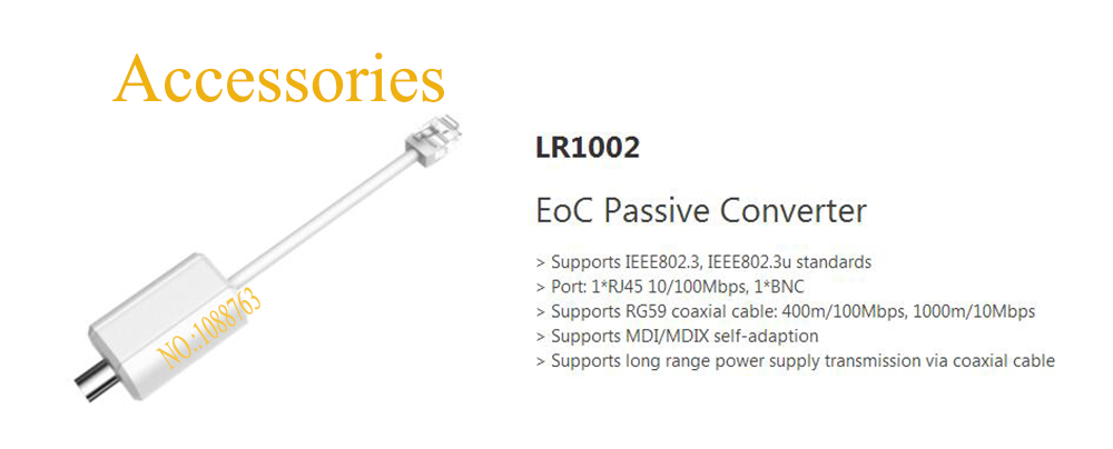 Free Shipping DAHUA EoC Passive Converter Without Logo LR1002<br>