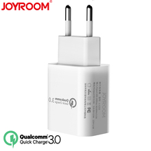 JOYROOM Mobile Phone USB Travel Wall Charger Adapter 18W Quick Qualcomm QC 3.0 Universal Fast Travel Charger EU Plug(China)