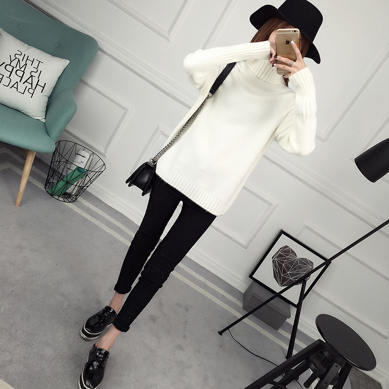 Winter Turtleneck Sweater, Women's 2017 New Design Thick Pullover 34