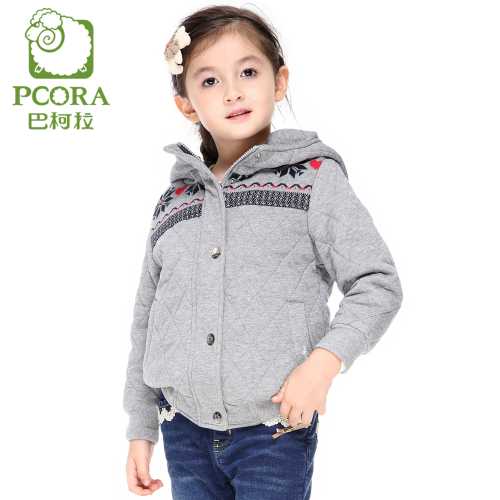 PCORA Girls Outerwear Coat Autumn&amp;Winter Thick Keep Warm Hooded Cotton Kids Girls Clothes High Quality Brand Children ClothesОдежда и ак�е��уары<br><br><br>Aliexpress