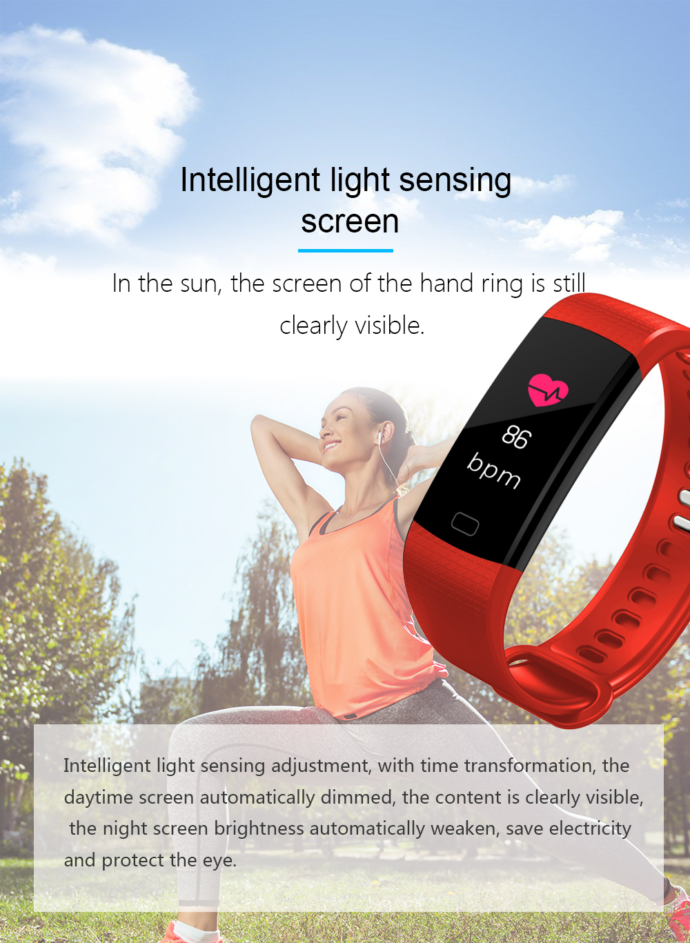 Y5 Smart Band Watch Colorful Display Wristband Activity Fitness Tracker Smart Electronics Heart Rate Bracelet VS Xiaomi Miband 2 -02