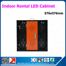 576x57x60mm p3 led display cabinet aluminum indoor led video wall rental led display p6 led(China)