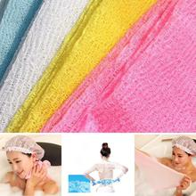 New Nylon Mesh Bath Shower Body Washing Clean Exfoliate Puff Scrubbing Towel Cloth(China)