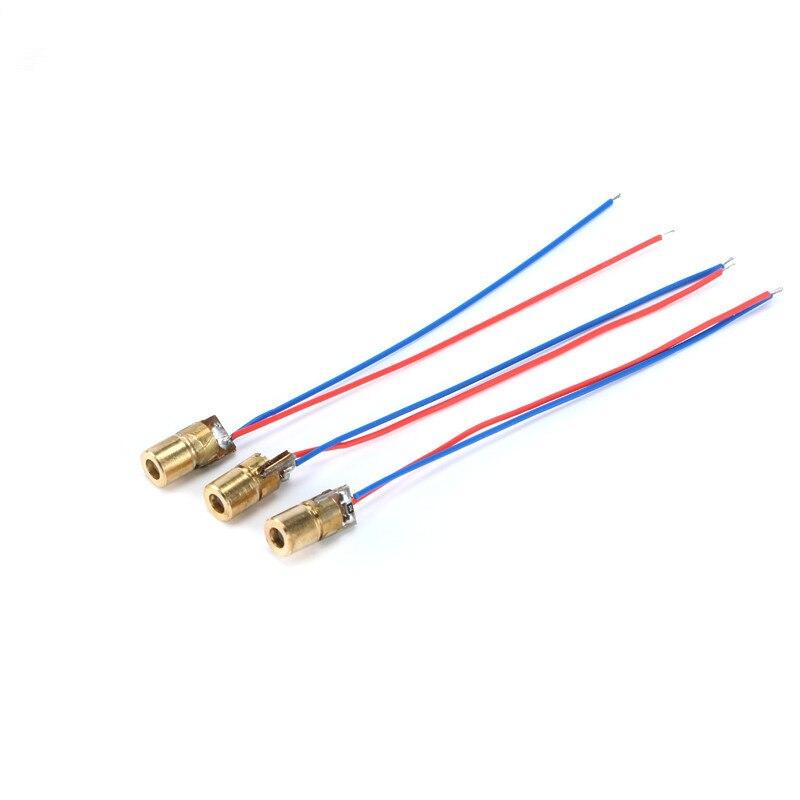 20pcs/lot 5V laser head laser diode dot copper semiconductor laser tube 6MM outer diameter