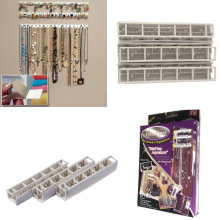 Adhesive Jewelry earring necklace hanger holder Organizer packaging Display jewelry rack sticky hooks Wall Mount stand tray para