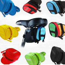 Mountain Bike Cycling Rear Saddle Pouch Basket Cycle Seat Pack Bicycle Rear Panniers Tool Bags Bicycle Packs Back Tube Bags(China)